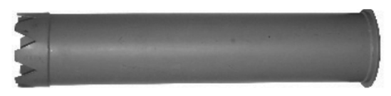 """Picture of 8"""" Steel Catch Basin Tube (dig tube)"""