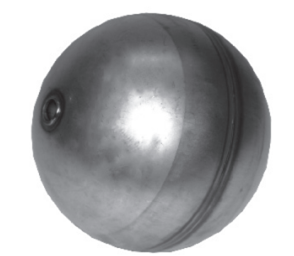 "Picture of 6"" Stainless Steel Float Ball w/ ½"" Bore"