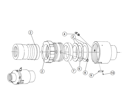 Picture of TM® Style Straight Swivel - Parts